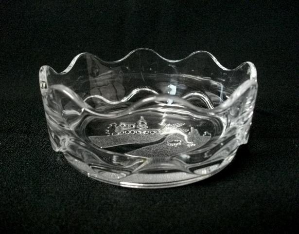 深皿/小皿/小鉢★10cm/ウェーブカット/平底/ガラス製★_画像4
