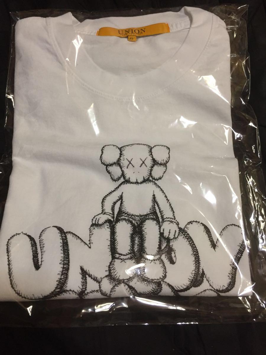 送料込み即決 国内正規新品 白XL UNION TOKYO オープン記念 KAWS TEE カウズ Tシャツ Supreme 創設者