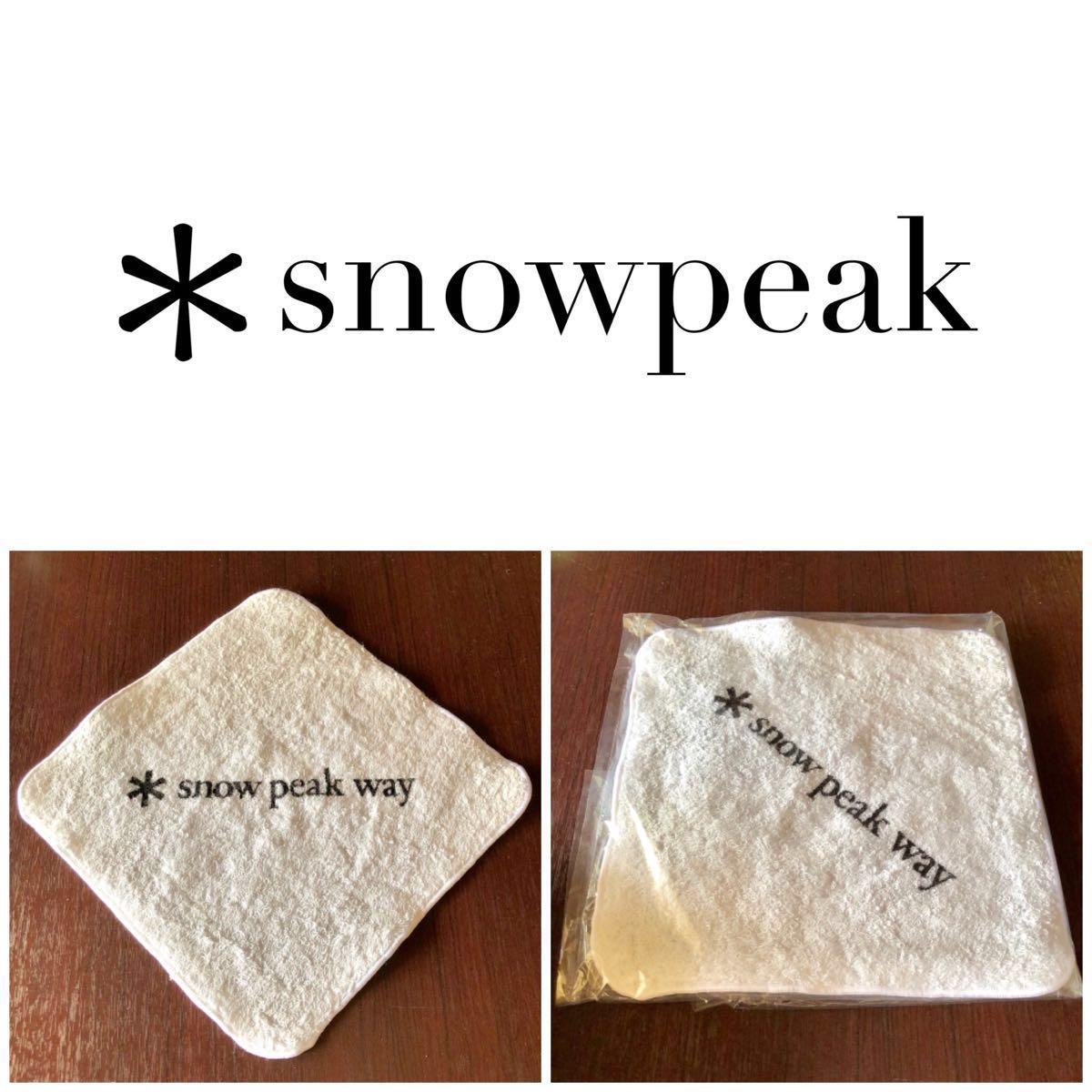 激レア★非売品 snowpeak way ハンドタオル新品未使用 スノーピーク キャンプ アウトドア BBQ Coleman LOGOS UNIFLAME snow peak グッズ
