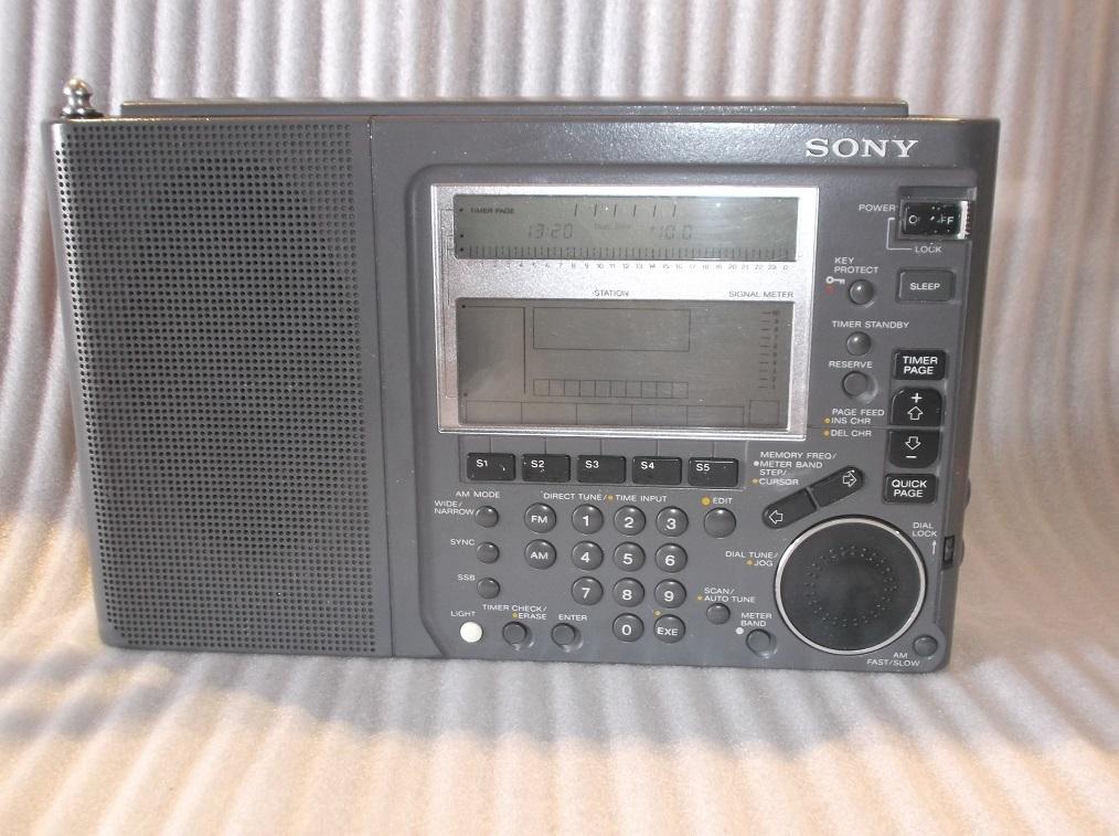 SONY WORLD BAND RECEIVER ICF-SW77 ラジオ 通電OK ジャンク品
