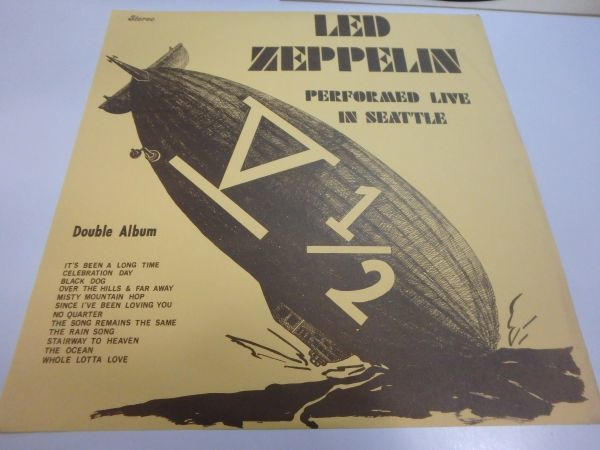 Unofficial【LPレコード】Led Zeppelin V 1/2 Performed Live In Seattle / HH-Seattle 1-4(none)_画像3