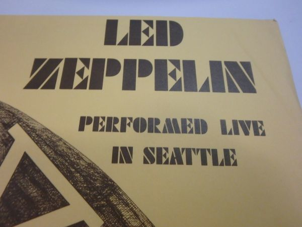 Unofficial【LPレコード】Led Zeppelin V 1/2 Performed Live In Seattle / HH-Seattle 1-4(none)_画像5