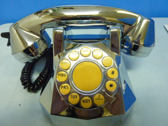 s-751 TT SYSTEMS シルバーメッキ 電話機 RT-200 TELEPHONE  アンティーク 電話_画像2