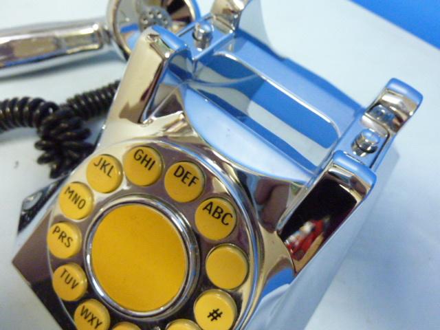 s-751 TT SYSTEMS シルバーメッキ 電話機 RT-200 TELEPHONE  アンティーク 電話_画像3