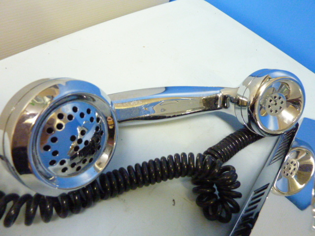 s-751 TT SYSTEMS シルバーメッキ 電話機 RT-200 TELEPHONE  アンティーク 電話_画像4