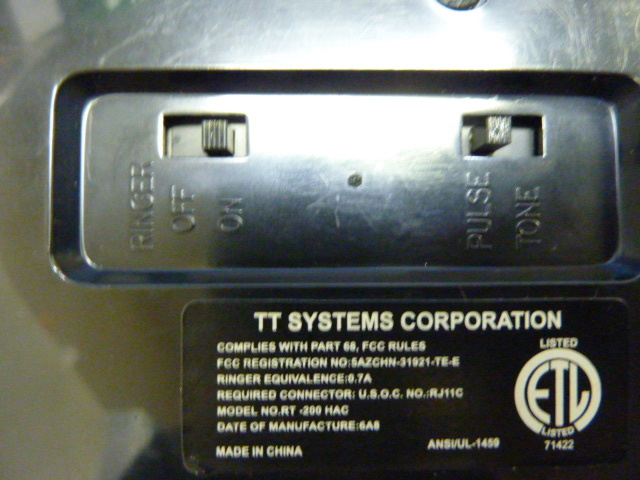 s-751 TT SYSTEMS シルバーメッキ 電話機 RT-200 TELEPHONE  アンティーク 電話_画像7