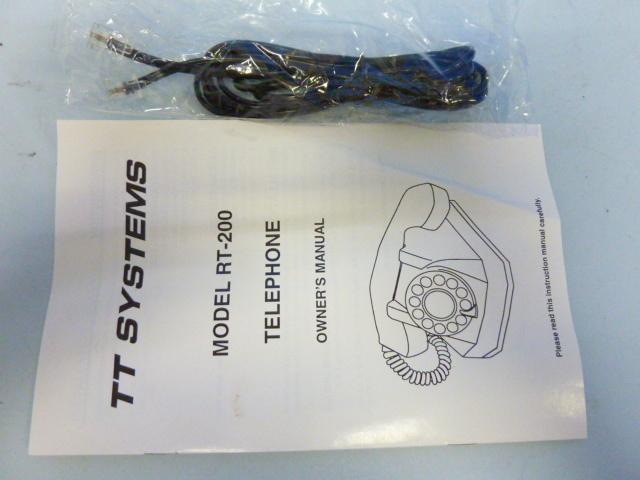 s-751 TT SYSTEMS シルバーメッキ 電話機 RT-200 TELEPHONE  アンティーク 電話_画像8