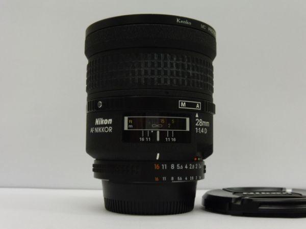 ニコン レンズ Nikon AF NIKKOR 28mm 1:1.4 D kenko MC PROTECTOR 72mm付