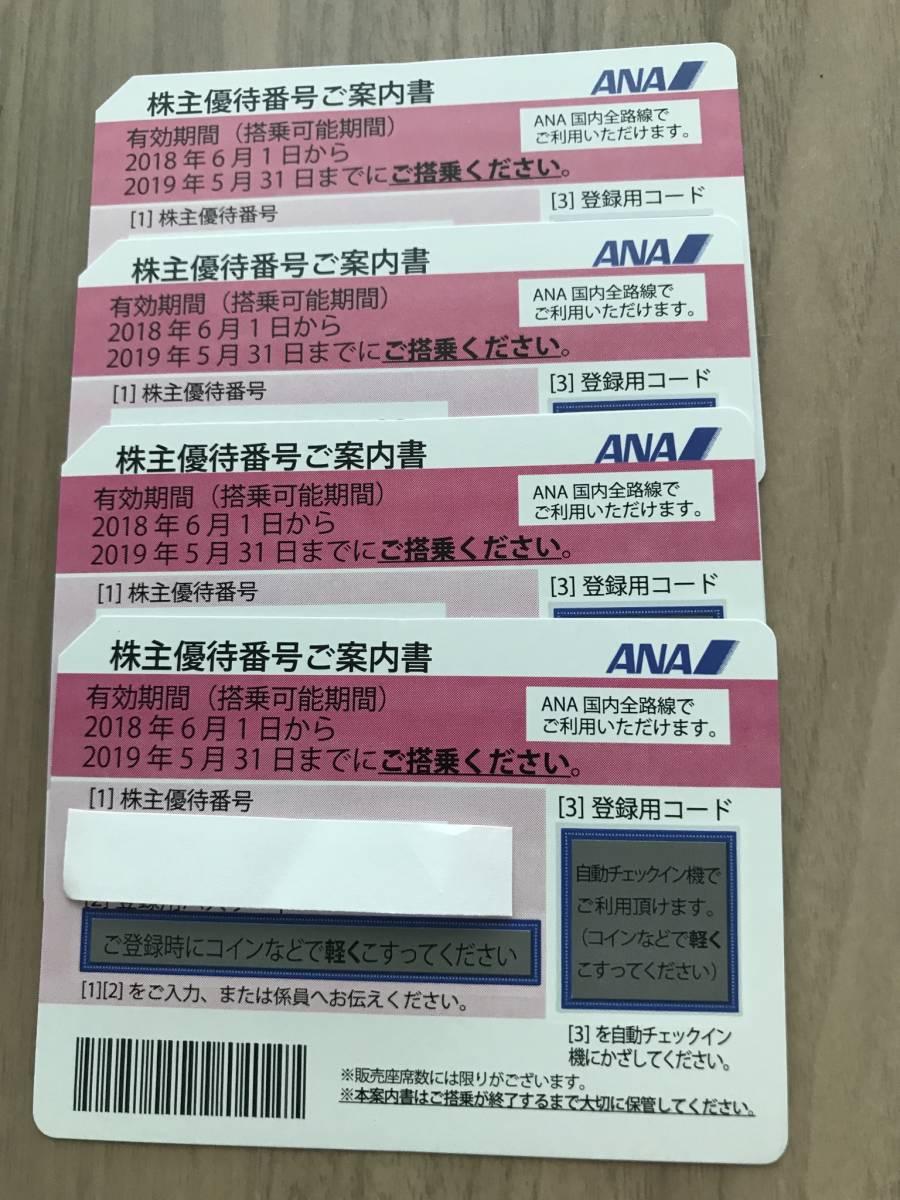 ■■■2019年5月31日まで・最新!送料無料 全日空 ANA株主優待券 4枚