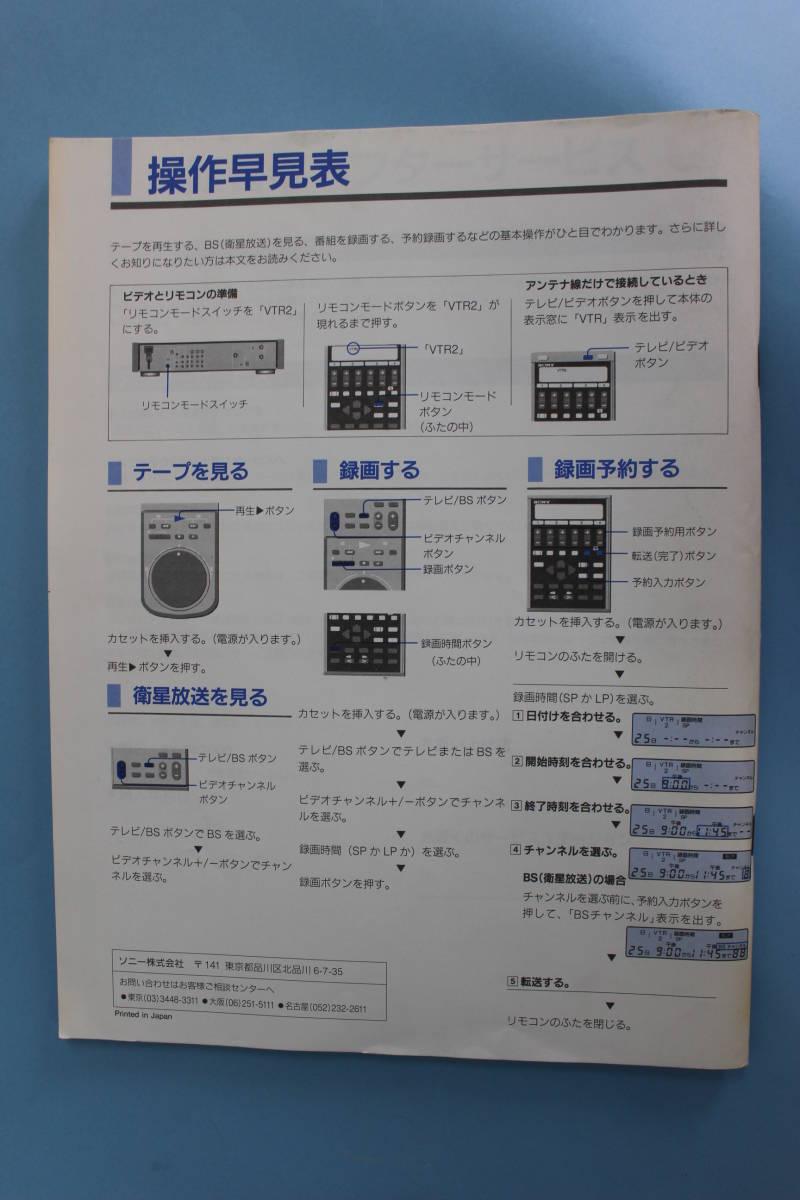 ●SONY ソニー Hi8 ビデオデッキ EV-BS3000 説明書付き (通電不可・ジャンク)_画像9