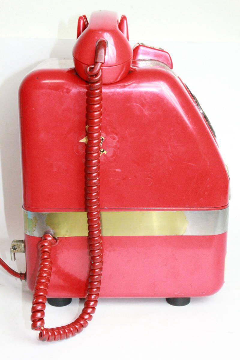 赤電話 公衆電話 公衆赤電話機 田村電機 日本電信 670A1 昭和43年製造/昭和レトロ_画像4