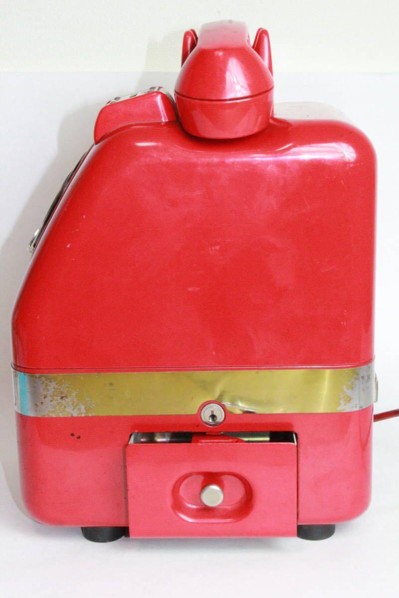 赤電話 公衆電話 公衆赤電話機 田村電機 日本電信 670A1 昭和43年製造/昭和レトロ_画像7