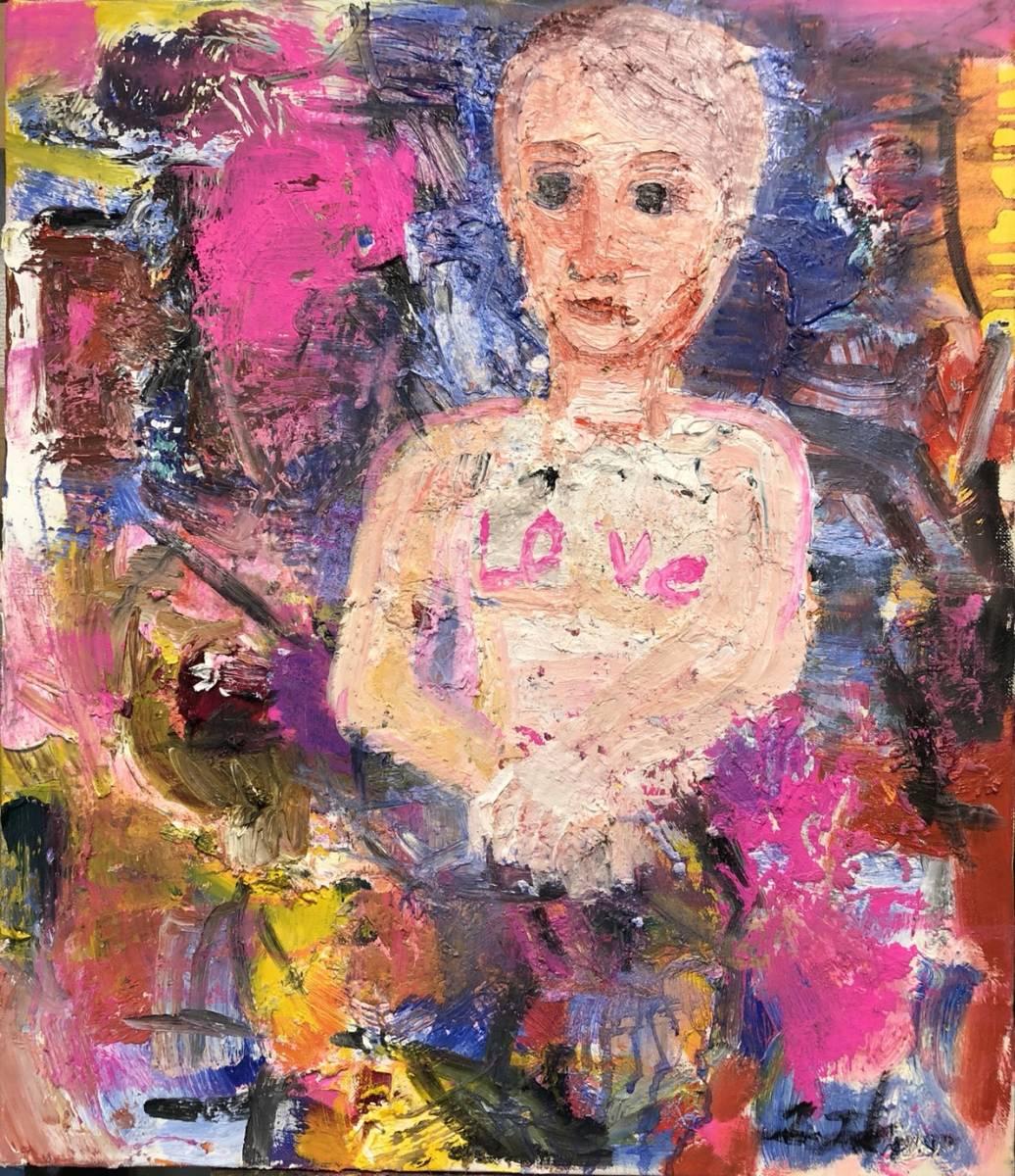 イギリス国立美術館収蔵作家、現代アート田中拓馬の抽象表現主義油彩!NYなど世界中のオークションで落札実績あり!
