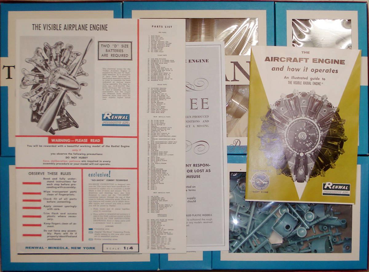○RENWAL レンウォール/ ビジブル エアプレーン エンジン(1/4) オリジナル_画像4