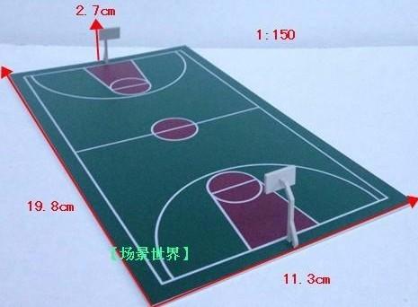 1/150■Nゲージ■ジオラマ ストラクチャー ミニチュア 模型 モデル 建物 スポーツ バスケ施設 バスケットボールコート 4枚セット■C091_画像1