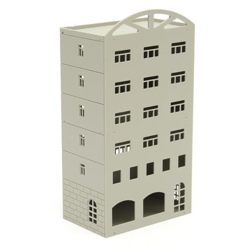1/150■Nゲージ■ジオラマ ストラクチャー 鉄道模型 建物 オフィスビル マンション 組み立てキット 未完成品■C116_画像1