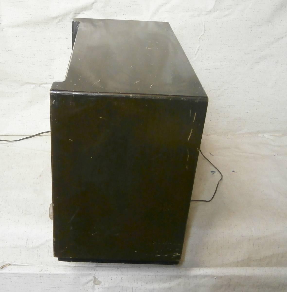 ハーモニー (薄井木工製作所) SW/MW 真空管ラジオ 6球 マジックアイ付 3連バリコン ジャンク_画像2