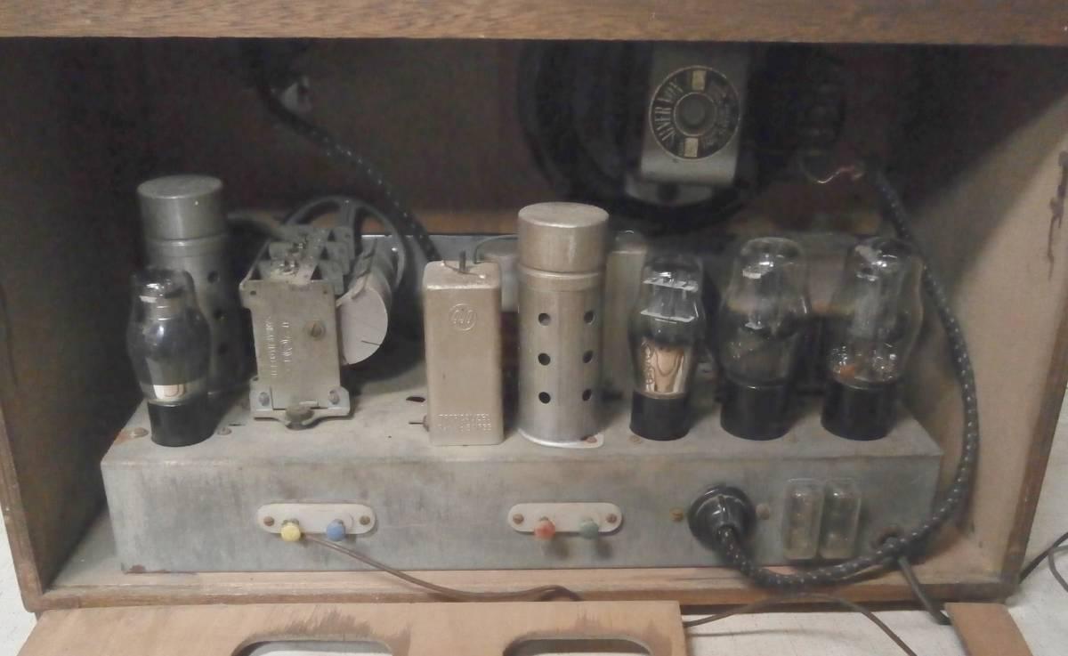 ハーモニー (薄井木工製作所) SW/MW 真空管ラジオ 6球 マジックアイ付 3連バリコン ジャンク_画像4