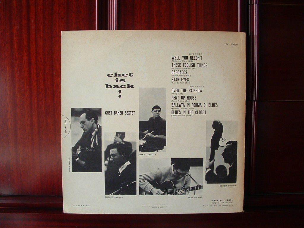 【伊オリジナル極美盤NM】CHET BAKER / Chet Is Back ! イタリア (DG,黒ラベル,RCA)_画像2