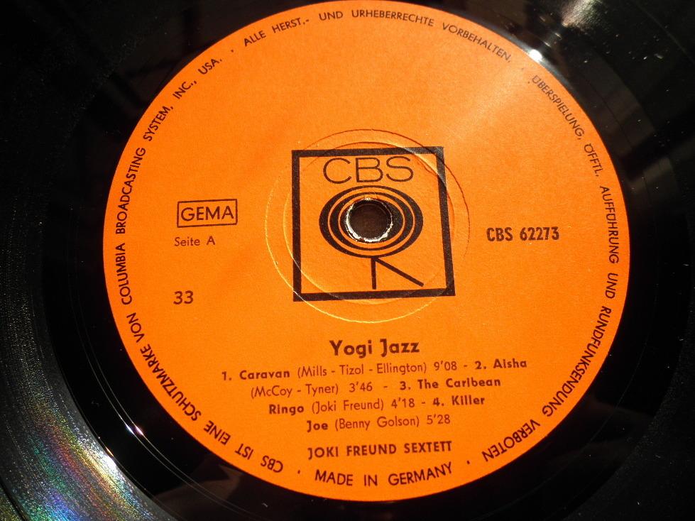 【独オリジナル入手困難】JOKI FREUND / Yogi Jazz ドイツ (オレンジ,CBS)_画像3