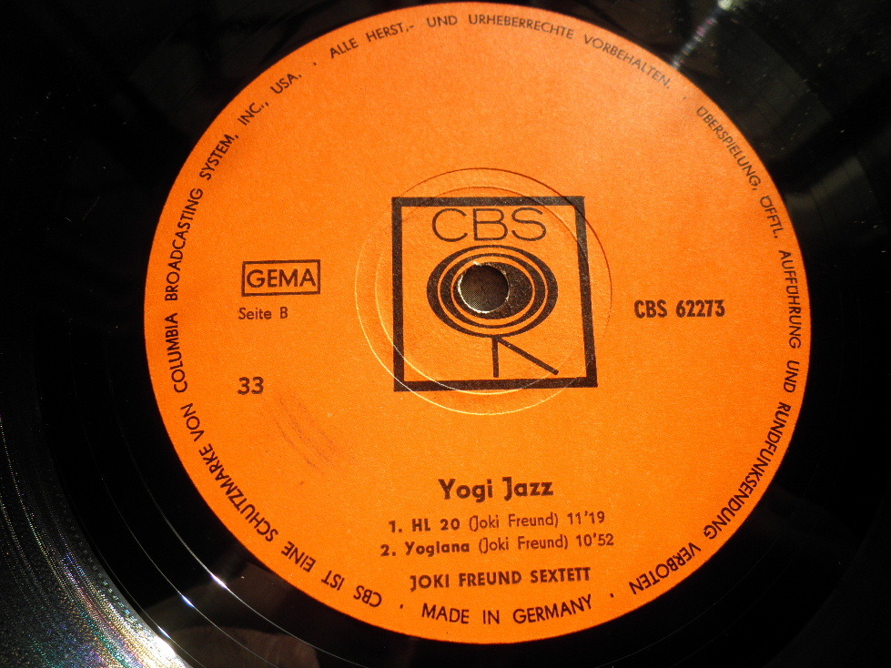 【独オリジナル入手困難】JOKI FREUND / Yogi Jazz ドイツ (オレンジ,CBS)_画像4