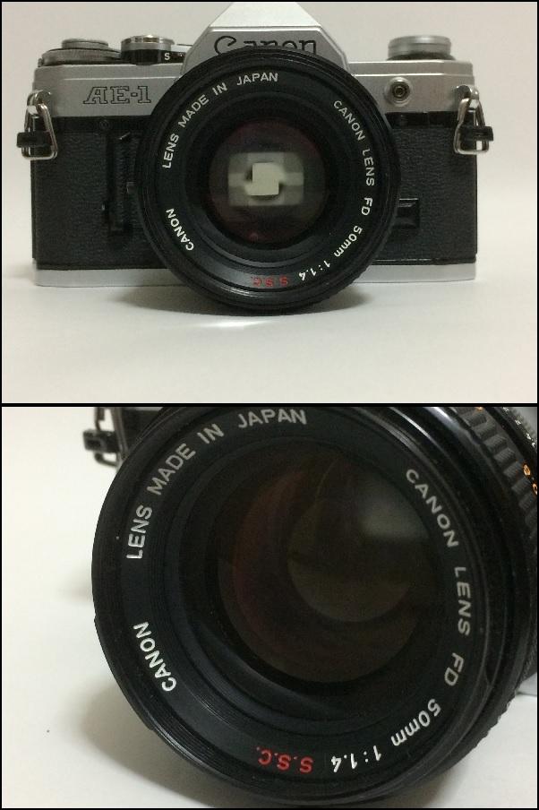 A11 キャノン AE-1 CANON LENS FD 50mm 1:1.4 ジャンク扱い_画像8