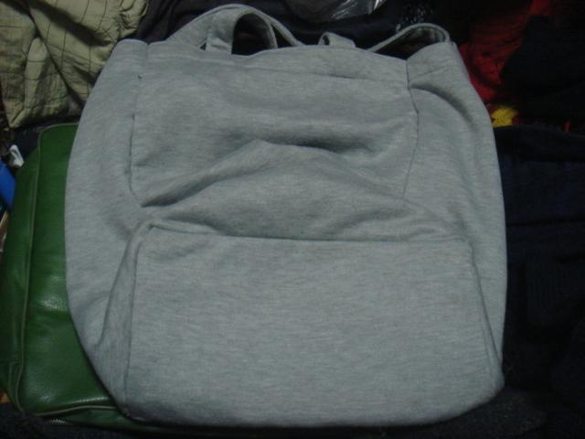 1805シナコバSINA COVAヘザーHEATHER霜降スウェット素材レタード ロゴ トートバッグBAGかばん鞄ハンド _画像2