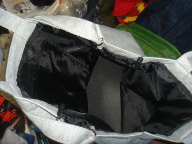1805シナコバSINA COVAヘザーHEATHER霜降スウェット素材レタード ロゴ トートバッグBAGかばん鞄ハンド _画像5