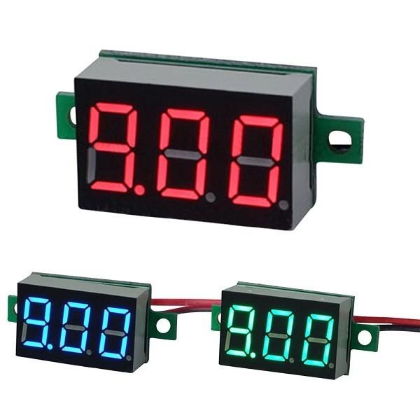 【新品】デジタル 電圧計 緑 2線式 DC3.2v~DC30v Green グリーン 電圧計測