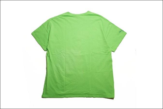 【XL】 14's GILDAN ギルダン Tシャツ 黄緑 プリント Sunbeam Family Services ビンテージ ヴィンテージ USA 古着 オールド IB876_画像2