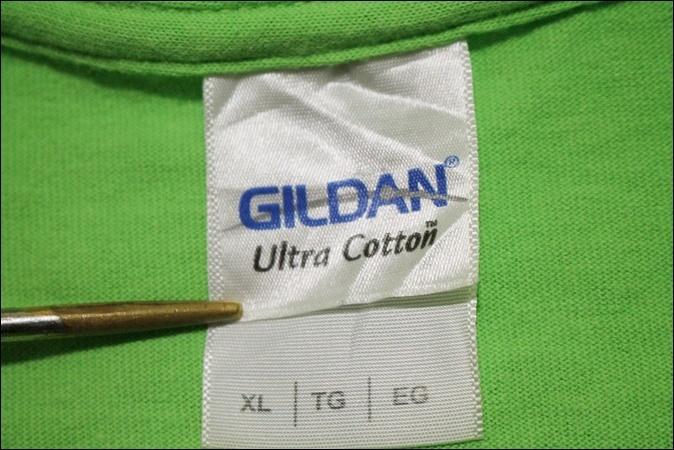 【XL】 14's GILDAN ギルダン Tシャツ 黄緑 プリント Sunbeam Family Services ビンテージ ヴィンテージ USA 古着 オールド IB876_画像5