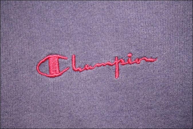 【LARGE】 90's Champion チャンピオン スウェット ハーフジップ USA製 紫 ビンテージ ヴィンテージ 古着 オールド TM72_画像4