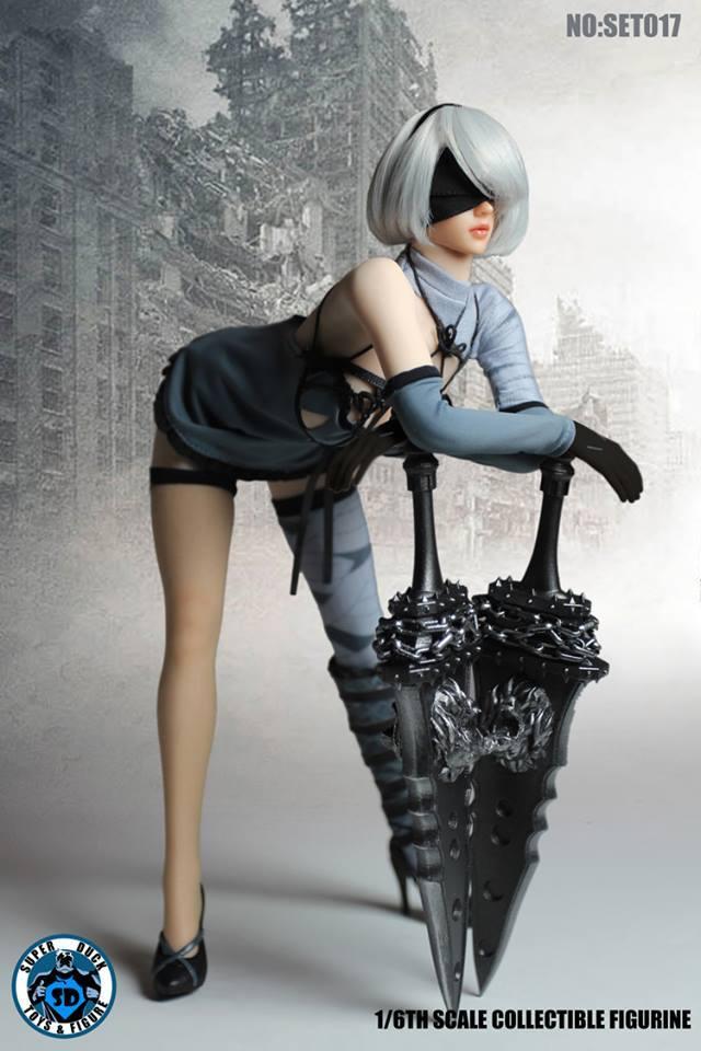 SUPER DUCK TBL1/6スケール女素体用衣装&ヘッドパーツセット ニーア オートマタ風 SET017_画像2