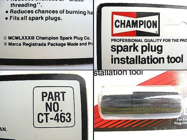 1980's CHAMPION チャンピオン スパーク プラグ NOS 外しツール ホットロッド HOTROD アメ車 FORD 旧車 BELL500TX シボレー BUCO フォード_画像5