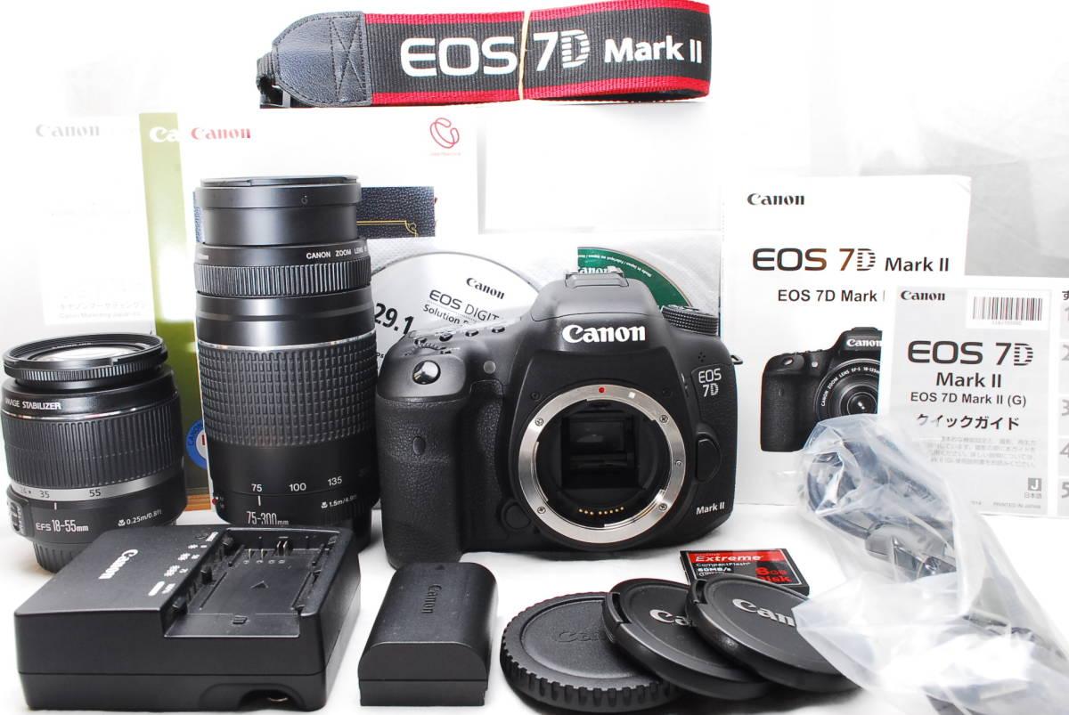 ★新品級★ Canon キャノン EOS EOS 7D MARK II 純正超望遠ダブルレンズセット 通常使用における不具合は1年間保証します!