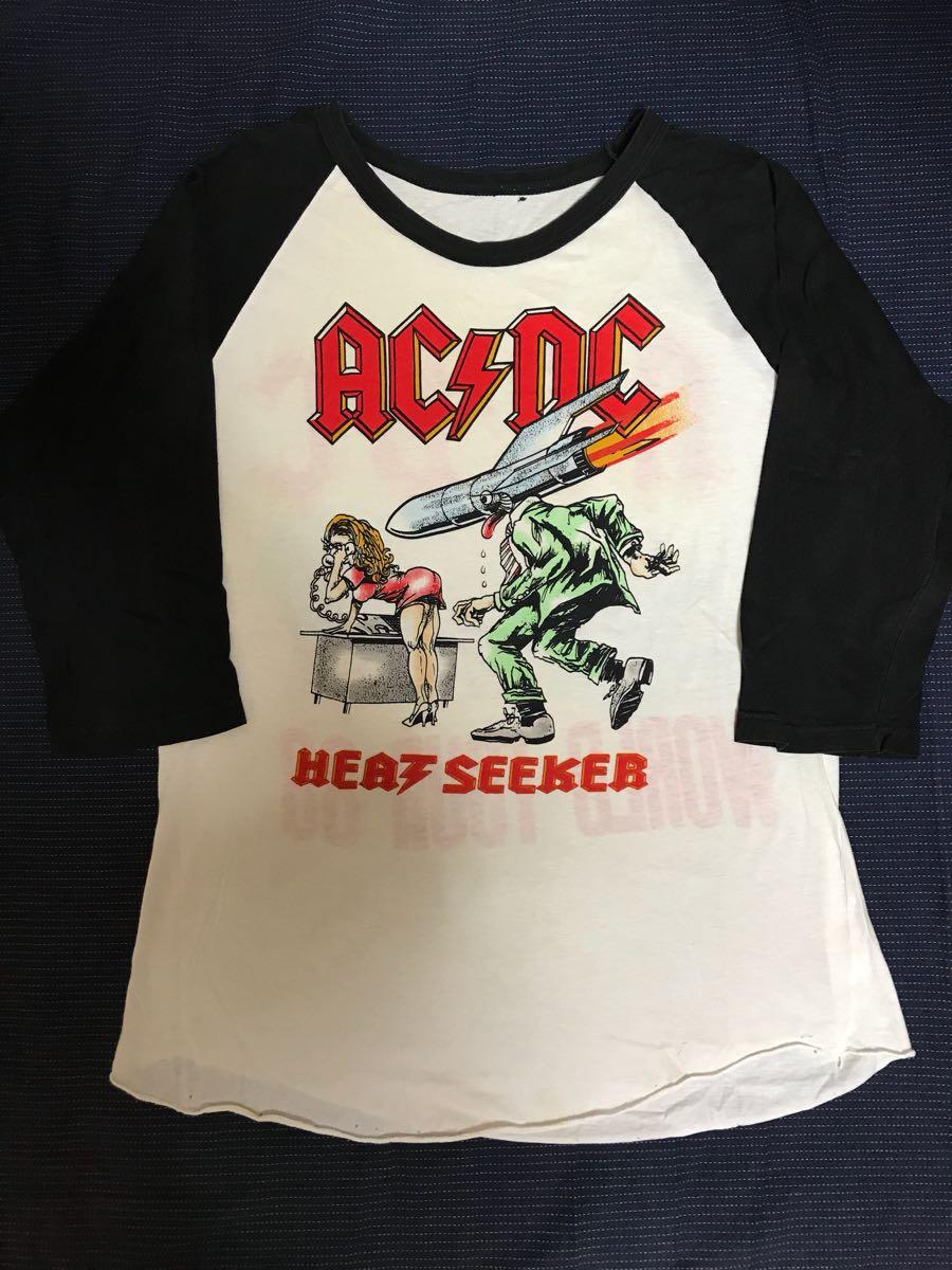 80s USA製 AC/DC ラグランTシャツ ビンテージ_画像1