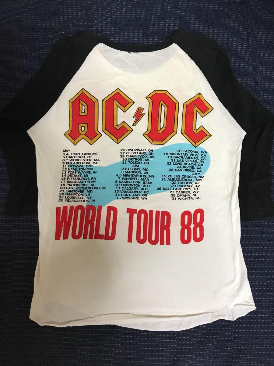 80s USA製 AC/DC ラグランTシャツ ビンテージ_画像2