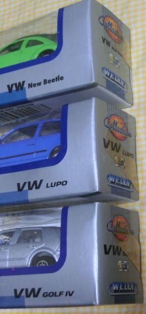 1/60 WELLY フォルクスワーゲン3種 Volks Wagen New Beatle LUPO GOLF4 ミニカー 外車 メタル ダイキャスト 未開封箱内側よごれ ウエリー_画像4