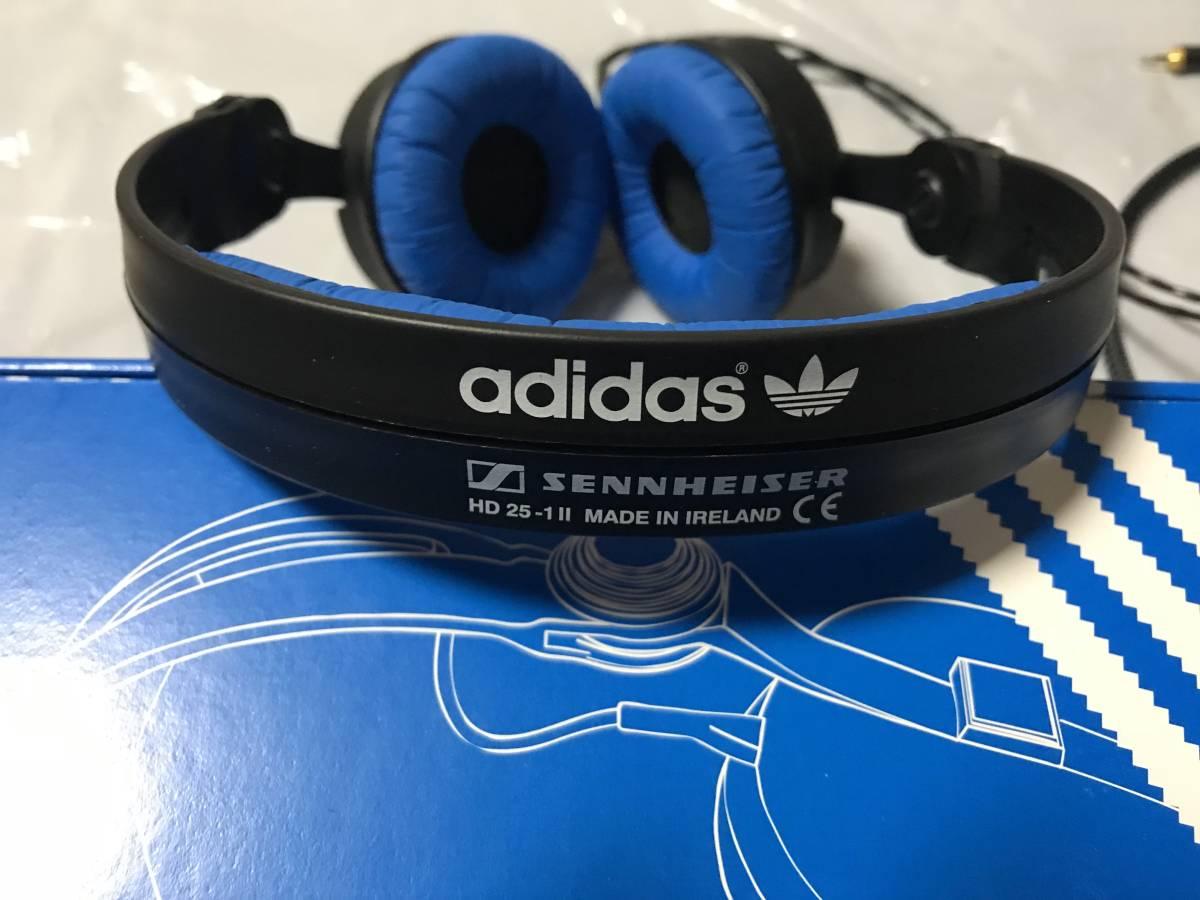 美品 ゼンハイザー SENNHEISER HD25-1-II adidas ORIGINALS [密閉型ヘッドホン adidasオリジナルモデル] + ORBバランスケーブル バランス化_画像3