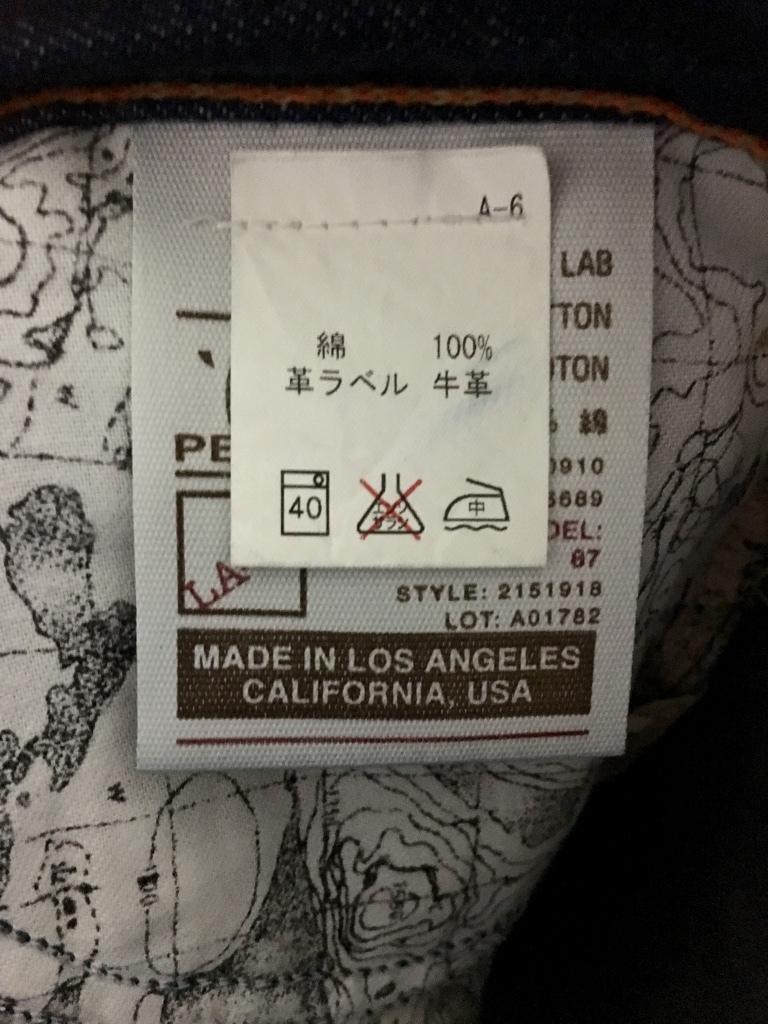 美品 濃紺☆CHIP PEPPER チップペッパー USA製 デニムパンツ ジーンズ MODEL87 ストレート 約W32_画像7
