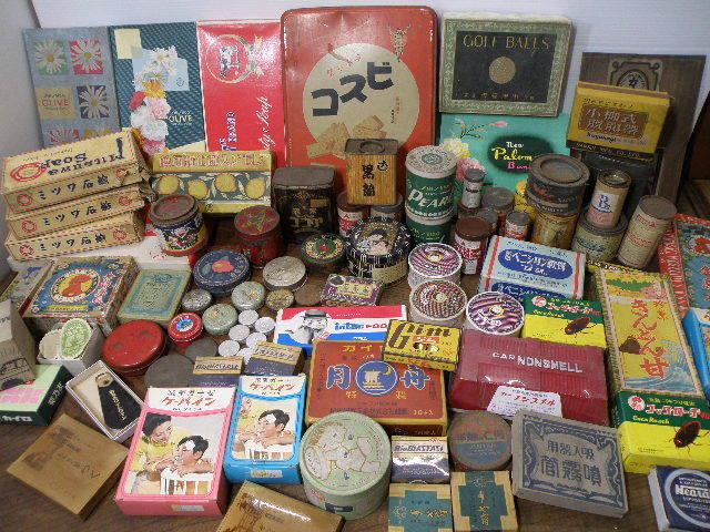 78 古い パッケージ 色々 まとめて 箱 缶 / 昭和レトロ 戦前 戦後 グリコ 広告 古い 昔 看板 宣伝