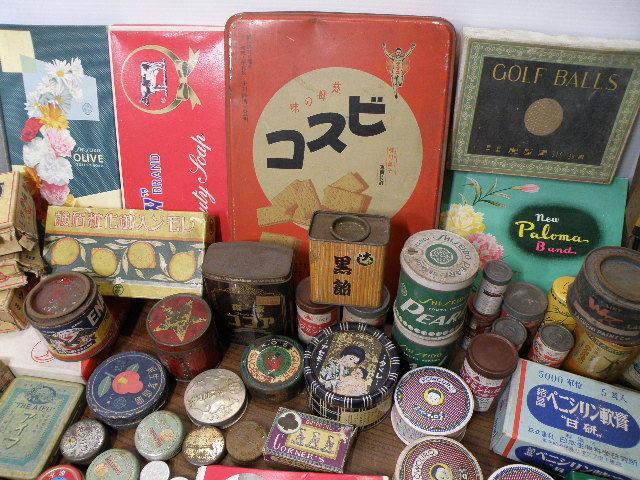 78 古い パッケージ 色々 まとめて 箱 缶 / 昭和レトロ 戦前 戦後 グリコ 広告 古い 昔 看板 宣伝 _画像2