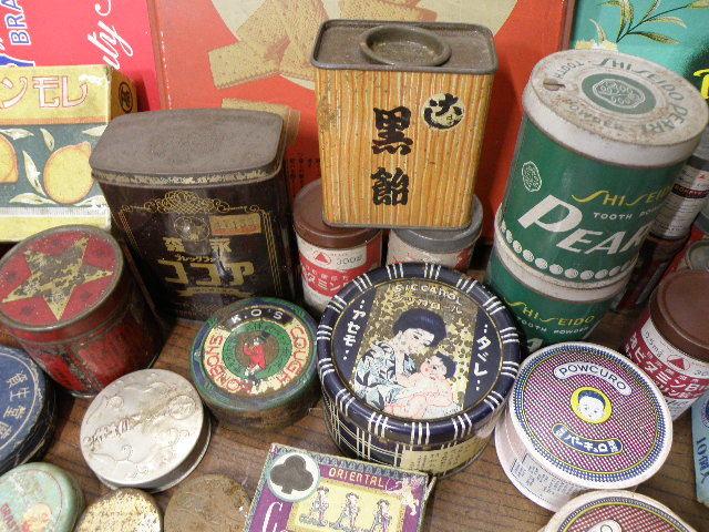 78 古い パッケージ 色々 まとめて 箱 缶 / 昭和レトロ 戦前 戦後 グリコ 広告 古い 昔 看板 宣伝 _画像3