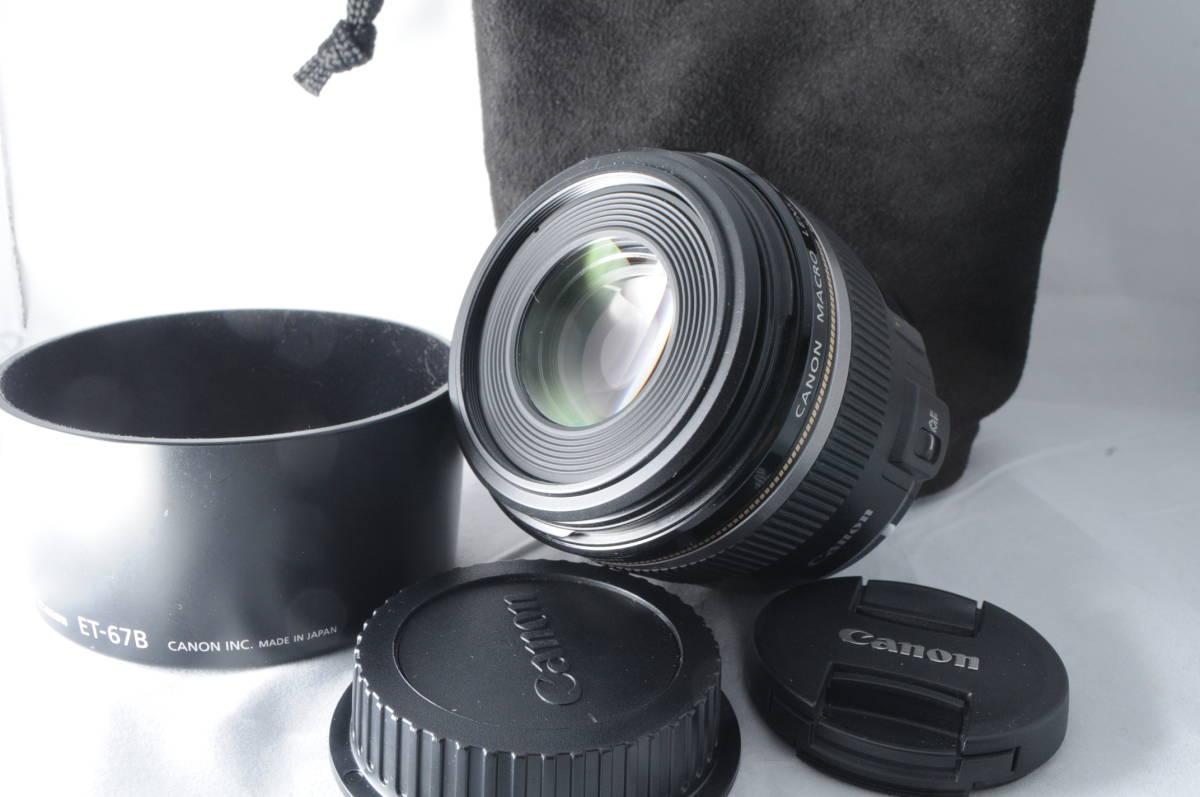 ◆ほぼ新品◆Canon キヤノン kyanon キャノン EF-S 60mm F2.8 マクロ USM ★付属品充実★半年間返金保証!#k12M18-82
