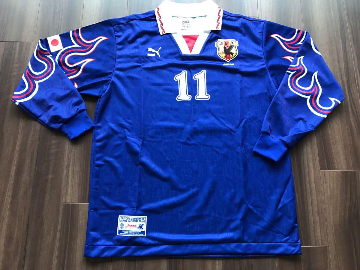 96 日本代表長袖ユニフォーム #11 三浦知良 選手用 サイン入り_画像3