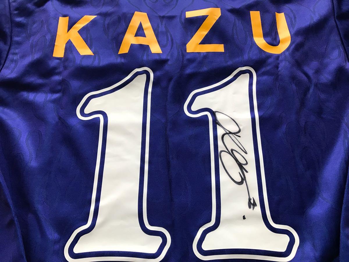 96 日本代表長袖ユニフォーム #11 三浦知良 選手用 サイン入り_画像2