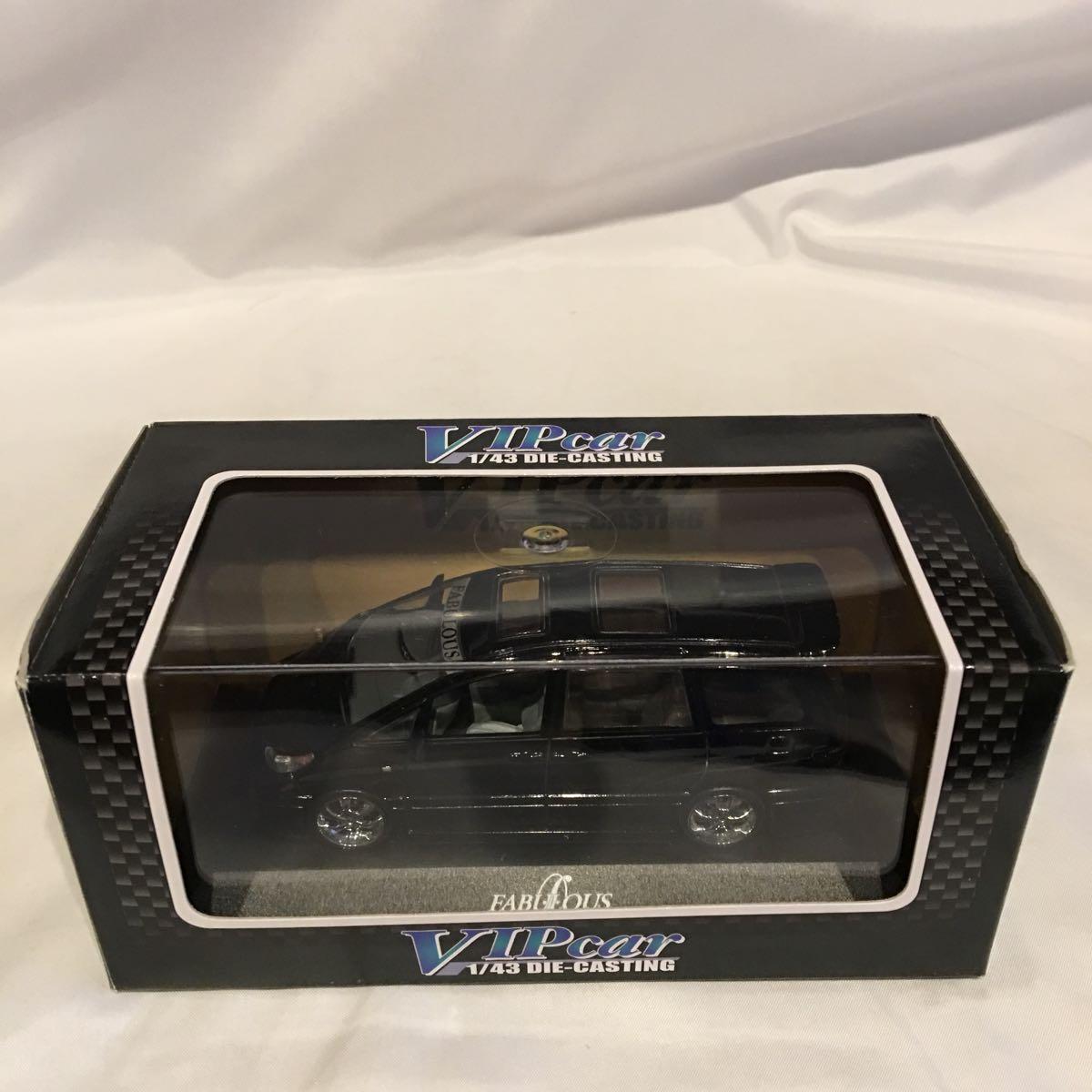アオシマ 1/43 FABULOUS ACR MCR トヨタ エスティマ ブラック ミニカー ファブレス エアロ ホイール カスタム モデルカー 黒色 ESTIMA_画像2