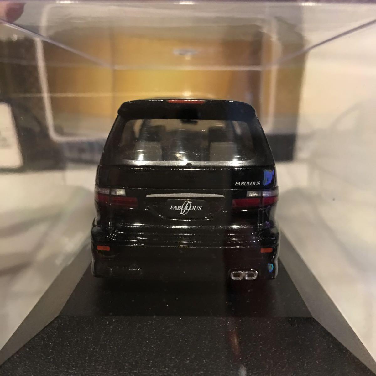 アオシマ 1/43 FABULOUS ACR MCR トヨタ エスティマ ブラック ミニカー ファブレス エアロ ホイール カスタム モデルカー 黒色 ESTIMA_画像10