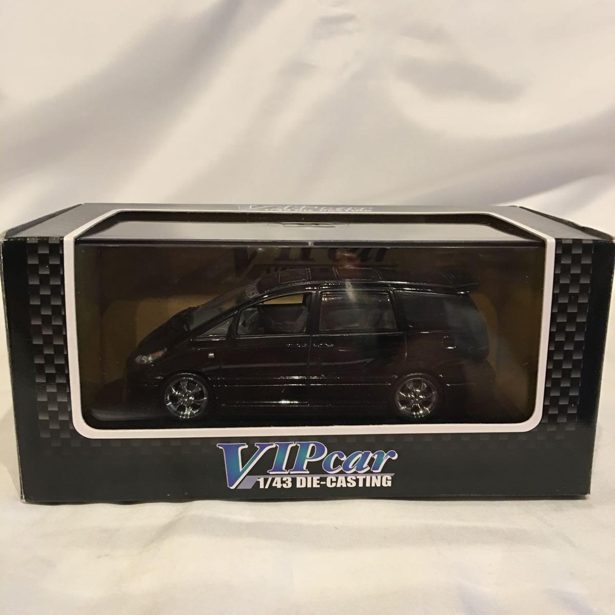 アオシマ 1/43 FABULOUS ACR MCR トヨタ エスティマ ブラック ミニカー ファブレス エアロ ホイール カスタム モデルカー 黒色 ESTIMA_画像3