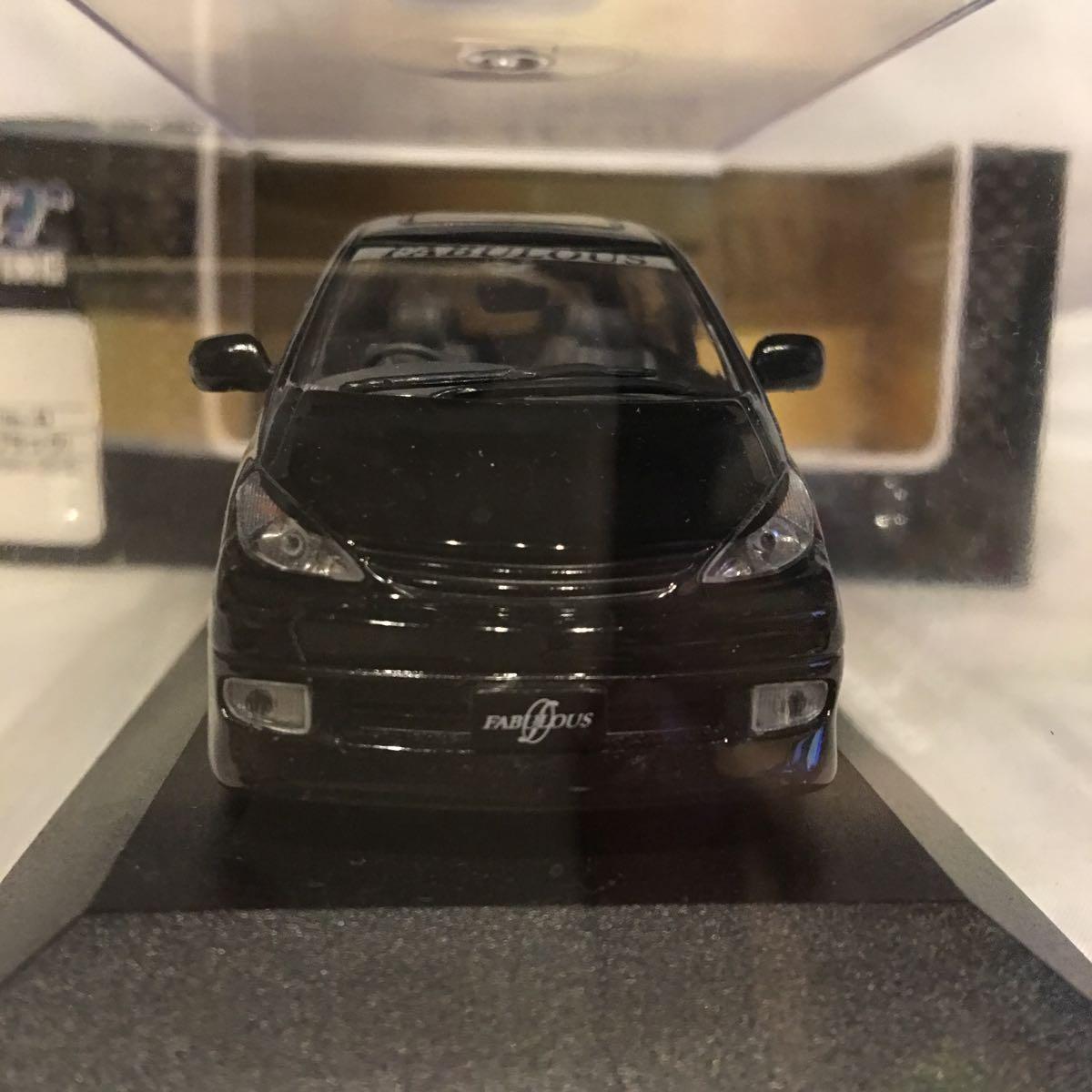 アオシマ 1/43 FABULOUS ACR MCR トヨタ エスティマ ブラック ミニカー ファブレス エアロ ホイール カスタム モデルカー 黒色 ESTIMA_画像8